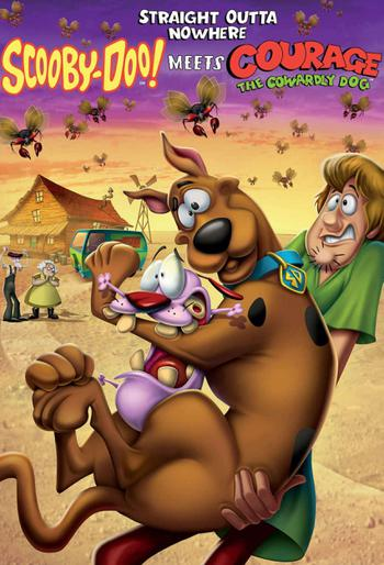 Straight Outta Nowhere: Scooby-Doo! Meets Courage The Cowardly Dog Poster